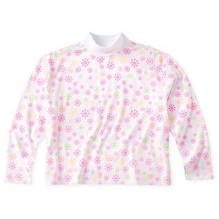 T-shirt court à col montant AOP pour femmes