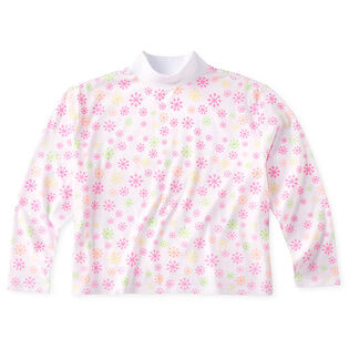 Women's AOP Cropped Mock T-Shirt