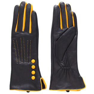 Women's Button Leather Glove
