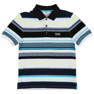 Junior Boys' [4-16] Multicolour Stripe Polo