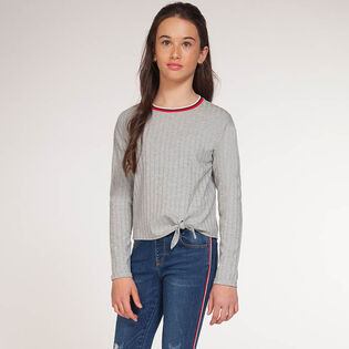 Junior Girls' [7-14] Ribbed Knot Top