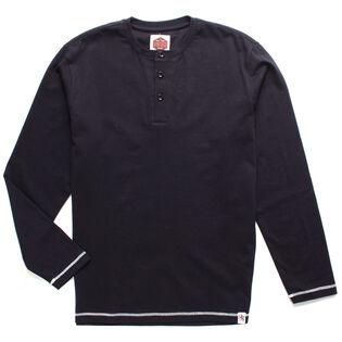 Men's Henley Long Sleeve Top