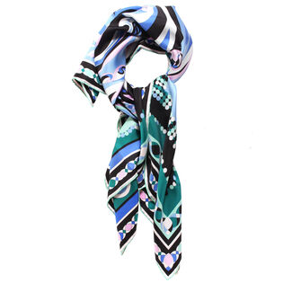 Women's Abstract Silk Scarf