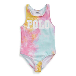 Girls' [5-6X] Tie-Dye One-Piece Swimsuit