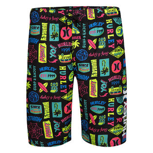 Boys' [4-7] Sticker Swim Trunk
