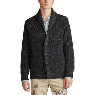 Men's Cotton Shawl-Collar Cardigan
