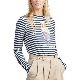 Women's Striped Polo Bear T-Shirt