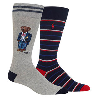 Men's Polo Bear Sock (2 Pack)