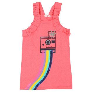 Robe à motif de caméra pour fillettes[3-6]