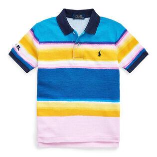 Boys' [5-7] Striped Cotton Mesh Polo