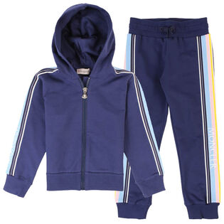 Girls' [4-6] Logo Trim Two-Piece Tracksuit