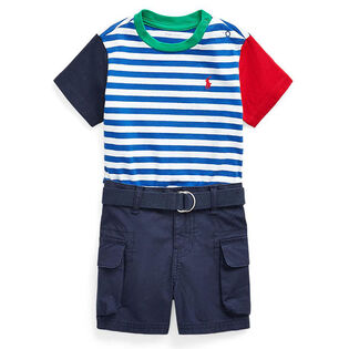 Baby Boys' [3-24M] Tee + Belted Short Two-Piece Set