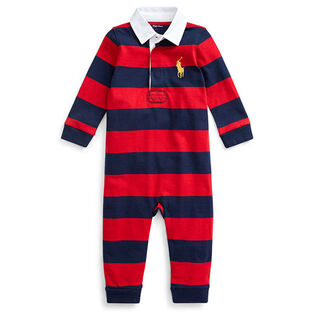 Baby Boys' [3-12M] Striped Cotton Rugby Coverall
