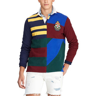 Men's Classic Fit Patchwork Rugby Shirt
