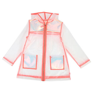 Girls' [4-6] Iridescent Panel Raincoat