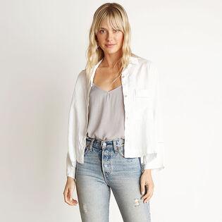 Women's 3/4 Sleeve Trimmed Shirt Jacket