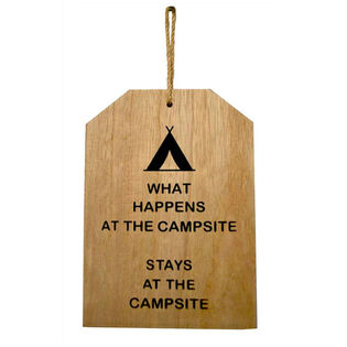 Campsite Wooden Sign