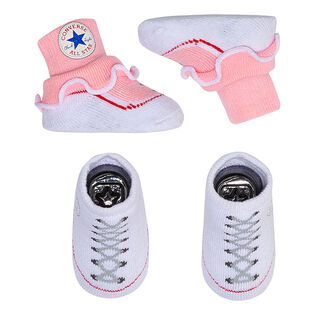 Baby Girls' [6-12M] Frilly Chuck Taylor Sock (2 Pack)