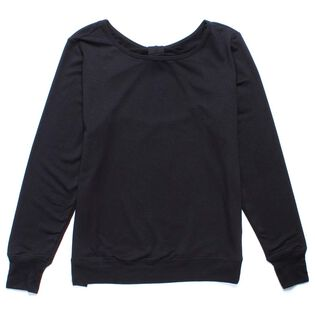 Women's Terry Bow Pullover Sweater