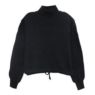 Chandail à col roulé en tricot pour femmes
