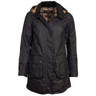 Manteau en coton ciré Sherwood pour femmes