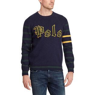 Men's Cotton Letterman Sweater