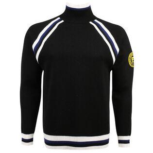 Men's Striped Trim Sweater