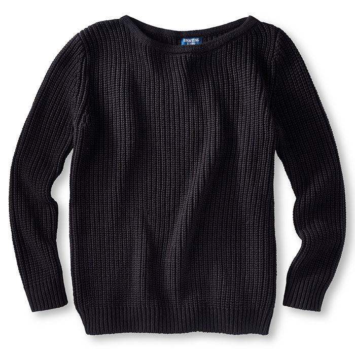 Chandail en tricot à encolure dégagée pour femmes