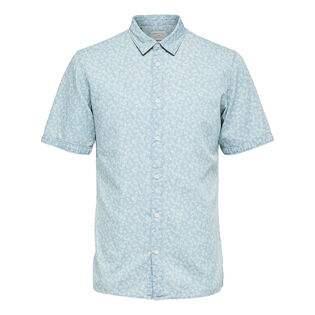 Men's Floral Slim Short Sleeve Shirt