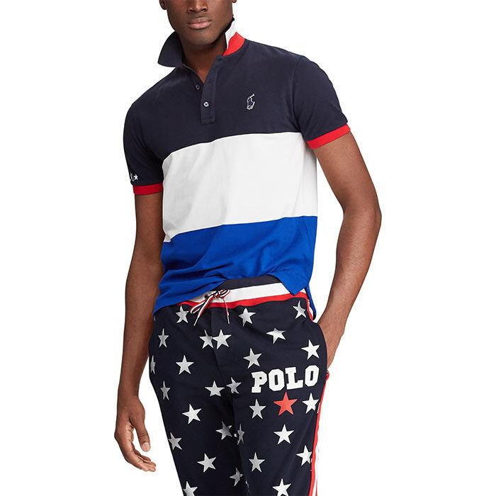 12d2a535 Men's Custom Slim Fit Mesh Polo   Polo Ralph Lauren   Sporting Life ...