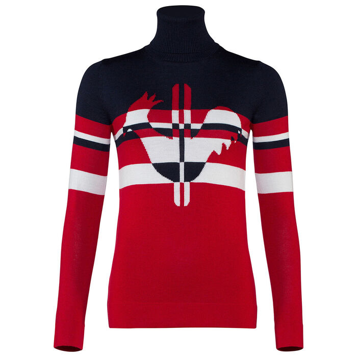 Women's Rooster Stripes Sweater