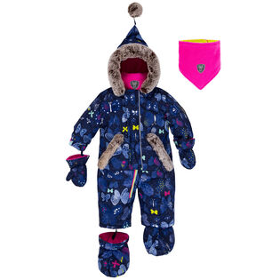 Baby Girls' [6-24M] Frosted Butterfly One-Piece Snowsuit