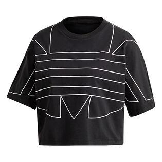 T-shirt à grand logo pour femmes