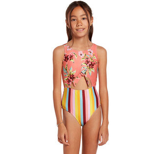 Junior Girls' [6-14] Bloomin On Up One-Piece Swimsuit