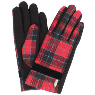 Women's Banded Plaid Glove