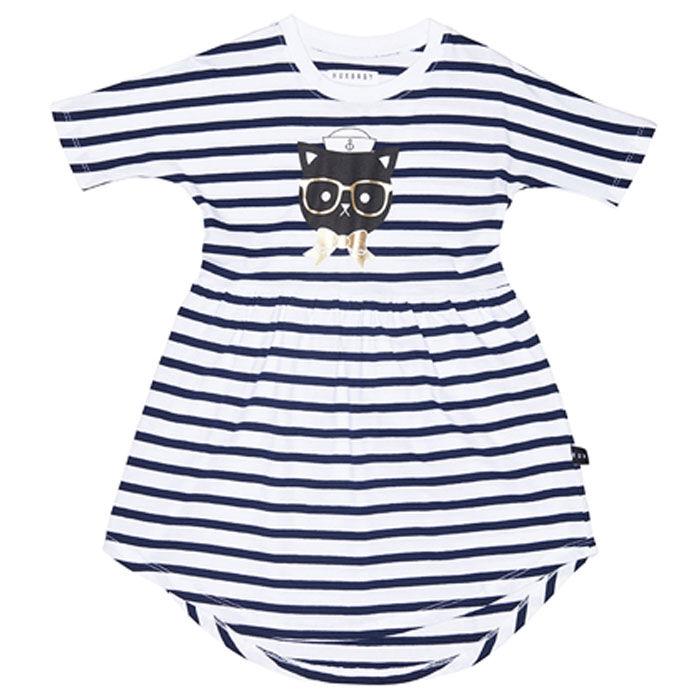 Girls' [2-5] Stripe Swirl Dress