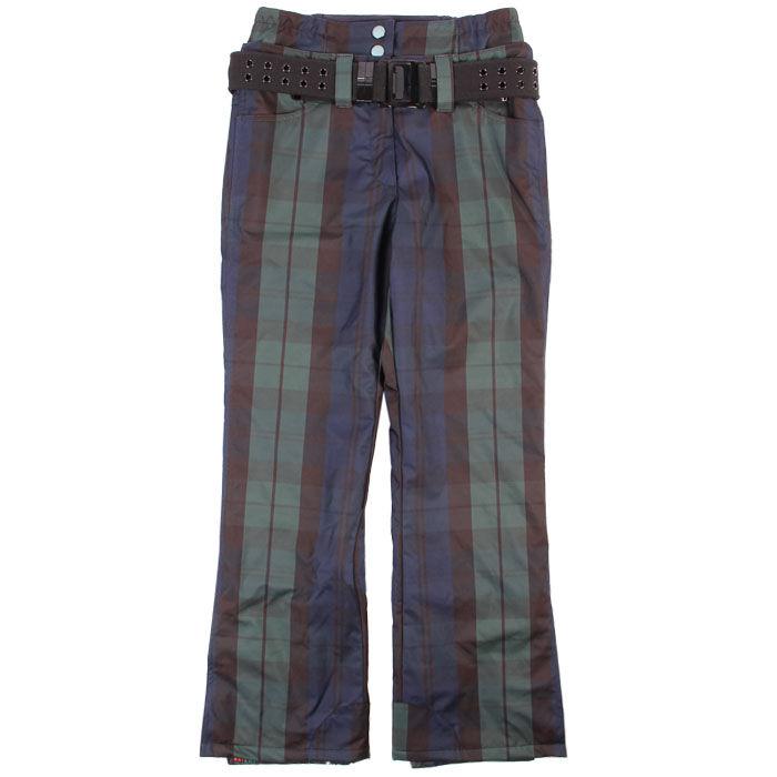 Pantalon doublé à carreaux pour femmes