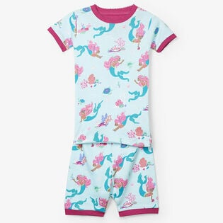 Pyjama deux pièces motif de sirènes pour fillettes [2-7]