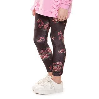 Junior Girls' [7-14] Floral Velvet Legging