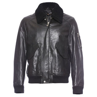 Men's Arne Leather Bomber Jacket