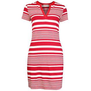 Women's Short Sleeve Striped Polo Dress