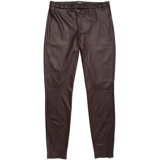 Women's Faux Leather Zip Pant
