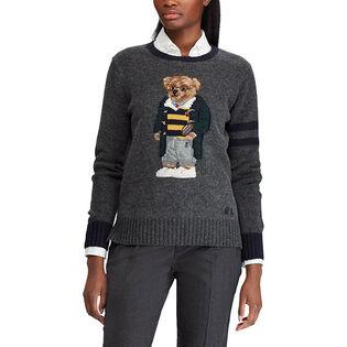 Women's Polo Bear Wool Sweater