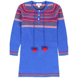 Junior Girls' [8-14] Pom Pom Wool Dress