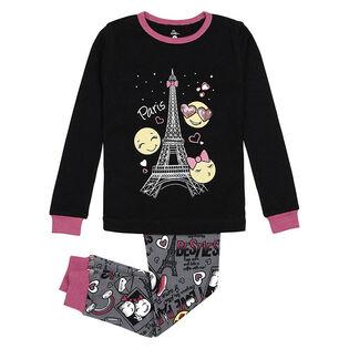 Junior Girls' [8-14] Emoji Print Two-Piece Pajama Set