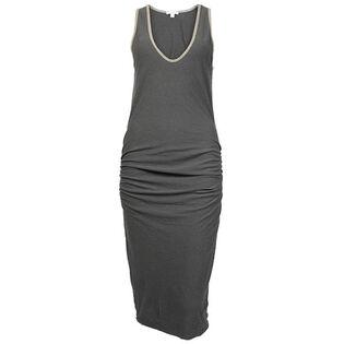 Women's Cotton Linen V-Neck Dress