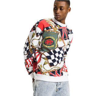 Men's Cotton-Blend Crew Neck Sweater