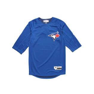 Mens On-Field 3/4 Sleeve Blue Jays Trainer Top