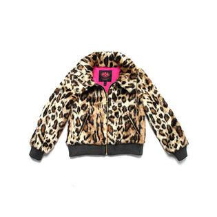 Junior Girls' [8-14] Cheetah Faux Fur Coat