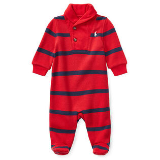 Baby Boys' [0-9M] Striped French-Rib One-Piece Coverall